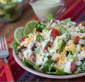 cilantro lime chicken taco salad by barbara schieving