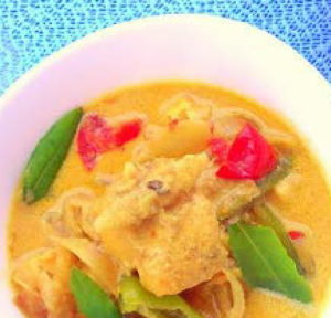 coconut fish curry by laura pazzaglia