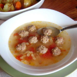mini-meatball broth by laura pazzaglia