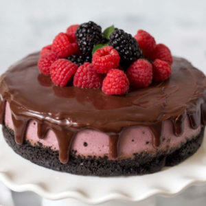 raspberry cheesecake by barbara schieving