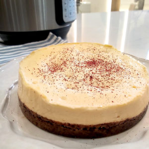 Cheesecake with Dark Chocolate and Sumac crust by Rebecca Potou